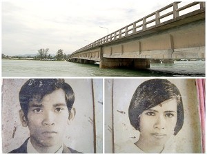 Dam and Gew love story of Sarasin Bridge on the island Phuket
